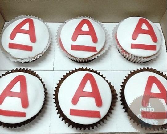 """Капкейки с логотипом """"Альфа"""" 26C"""