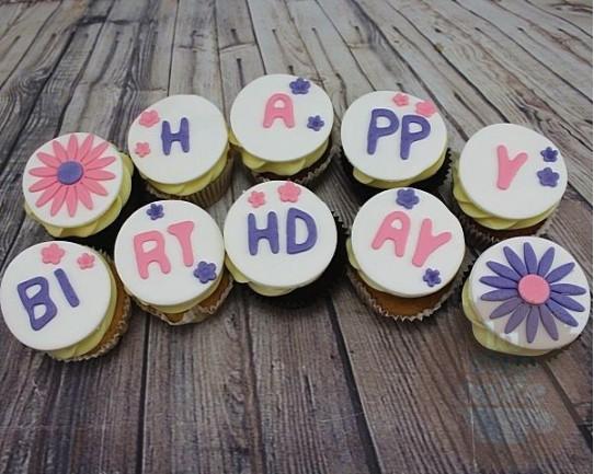 """Капкейки на День Рождения """"Праздник с цветами"""" 54BD"""