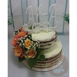 """Свадебный торт """"A+A"""" 10WC"""