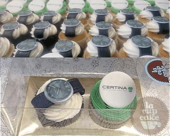 """Капкейки с логотипом """"Certina"""" 34C"""