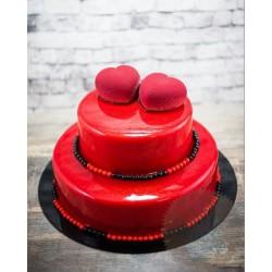 Торт Зеркальный «2 Сердца» 20CZ