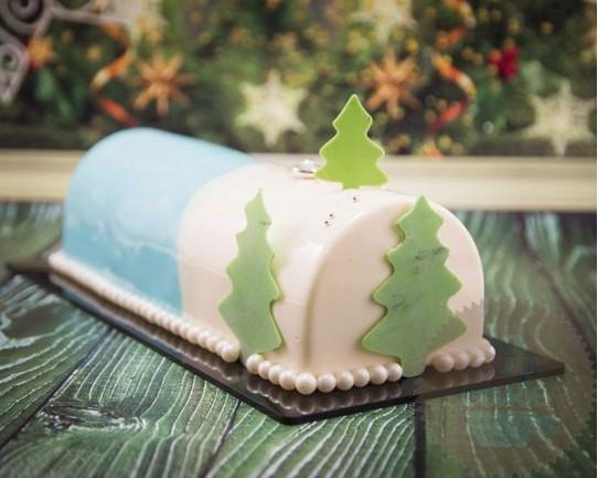 Торт Зеркальный «Новогодний» 22CZ