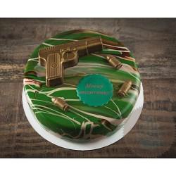 Торт Зеркальный «Моему Защитнику» 27CZ