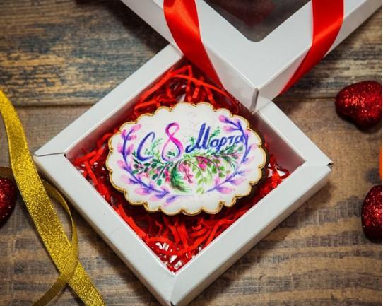 Имбирные печенья «На 8 марта №2» 75IP