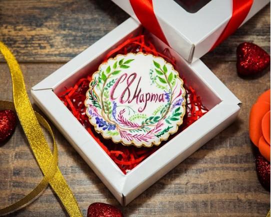 Имбирные печенья «На 8 марта №4» 77IP
