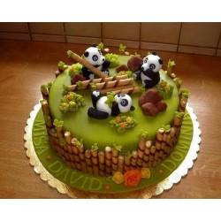 Торт детский  «Панда-Парк» 53KC
