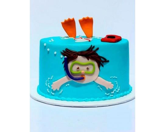 Торт детский  «Учимся Плавать» 54KC