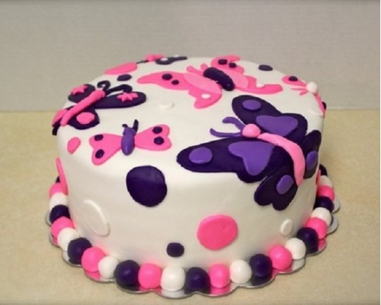 Торт детский  «Бабочки» 59KC