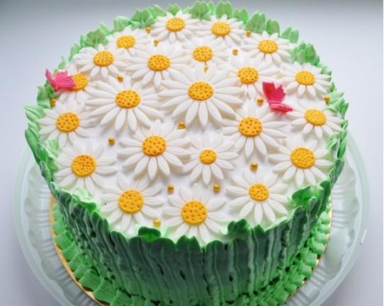 Торт детский  «Ромашки» 62KC