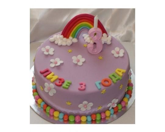 Торт детский  «Радуга» 65KC
