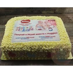 Корпоративный торт «Huggies» 11CC