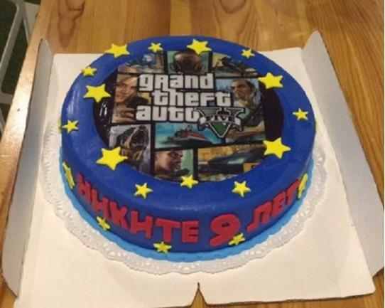 Корпоративный торт «ГТА» 12CC