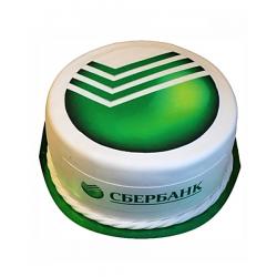 Корпоративный торт «Сбербанк» 23CC