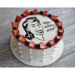 Торт для неё «Шарж» 03DJ