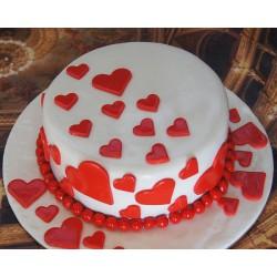 Торт для неё «Сердечки» 12DJ