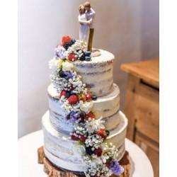 Свадебный торт «Цветочно-Ягодный» 23WC