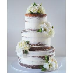 Свадебный торт «Белые Розы» 24WC