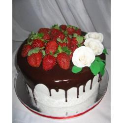 Торт ягодный «Розы с Клубникой» 09YF