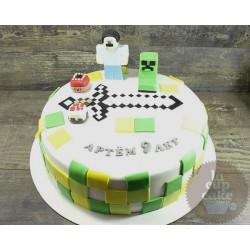 Торт детский  «Майнкрафт» 43KC