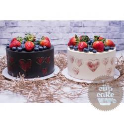 Торт для неё «Валентинки» 18DJ - Lacupcake