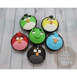 """Детские капкейки """"Angry Birds"""" 16K"""