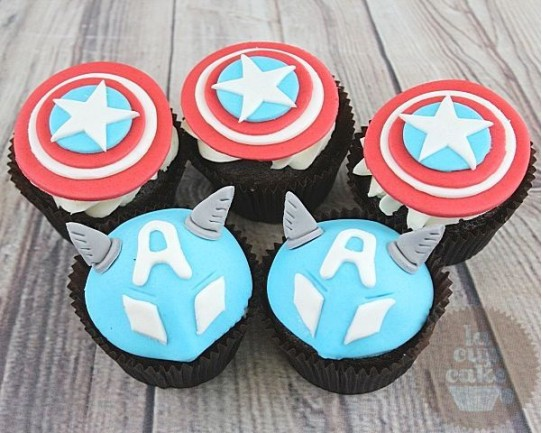 "Детские капкейки ""Капитан Америка"" 84K"