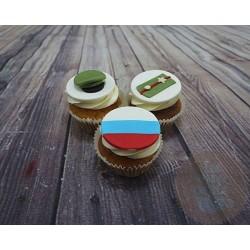 """Капкейки на 23 февраля """"Звание"""" 12ML"""