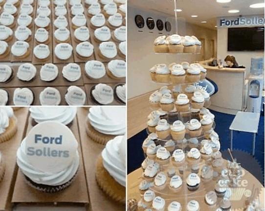 "Капкейки с логотипом ""Ford Sollers""12C"