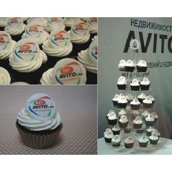 "Капкейки с логотипом ""Avito"" 13C"