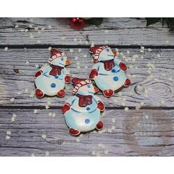 """Имбирные печенья """"Снеговики"""" 51IP"""