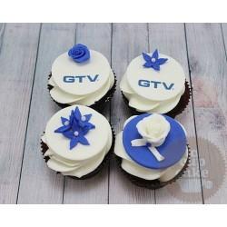 """Капкейки с логотипом """"GTV"""" 14C"""