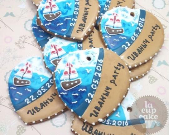 """Имбирные печенья """"Море"""" 02IP"""