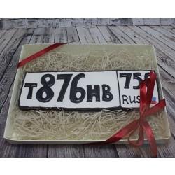"""Имбирные печенья """"Номерной знак"""" 45IP"""