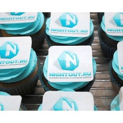 """Капкейки с логотипом """"Nightout.ru"""" 17C"""