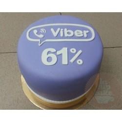 Корпоративный торт Viber 04CC