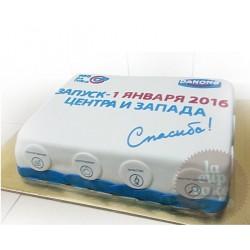 Корпоративный торт Danone 05CC