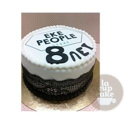 Корпоративный торт Eke People 09CC