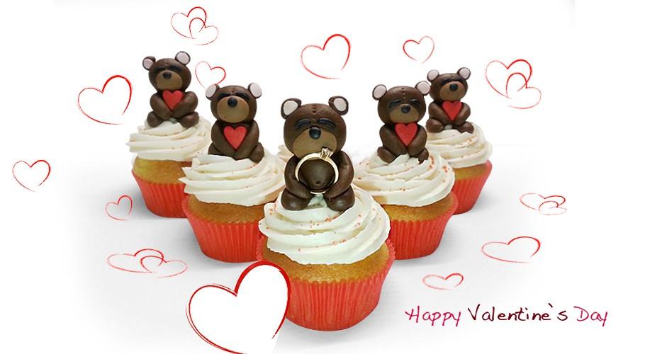 Капкейки на 14 февраля, день Святого Валентина